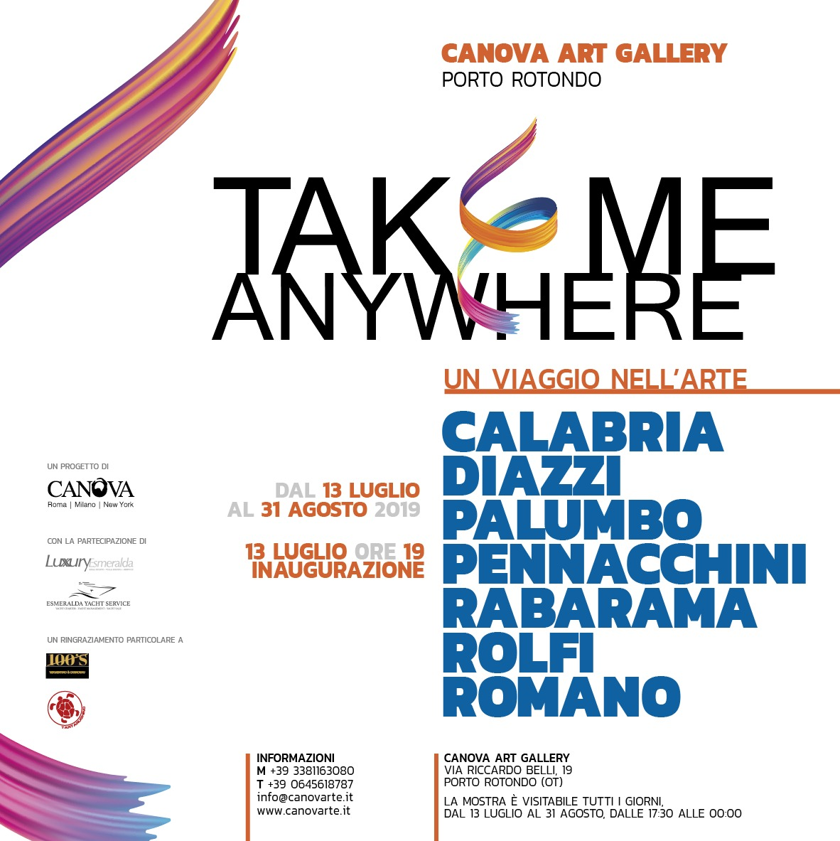"Canova Art Gallery "" Take me anywhere """